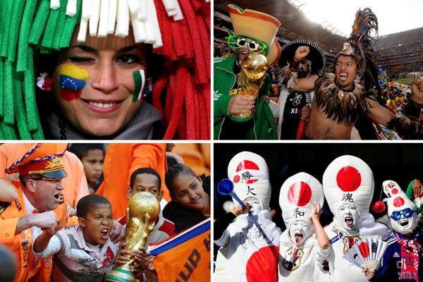 Футбольные болельщики на Чемпионате мира по футболу-2010 в ЮАР