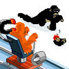 Monkey curling Championship 1986