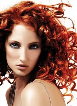 Огненно-рыжий цвет волос