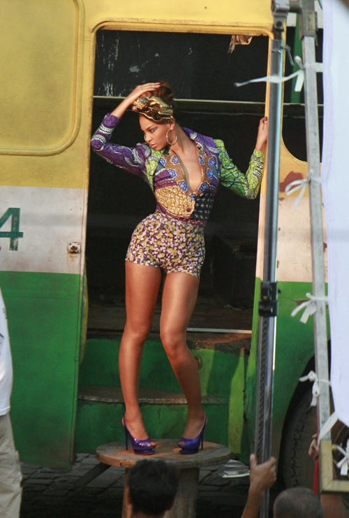 Beyonce at Music Video Set in Rio De Janeiro