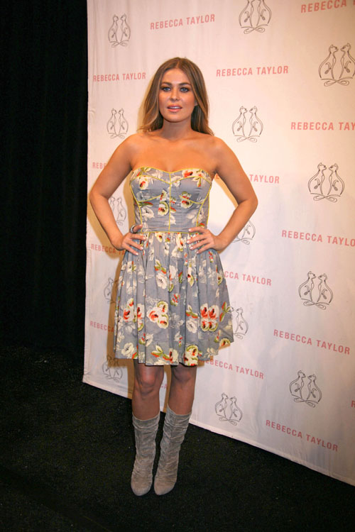Carmen Electra – Rebecca Taylor Fashion Show in New York