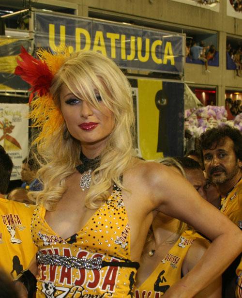 Paris Hilton – Cleavage Candids at the Carnival in Rio de Janeiro