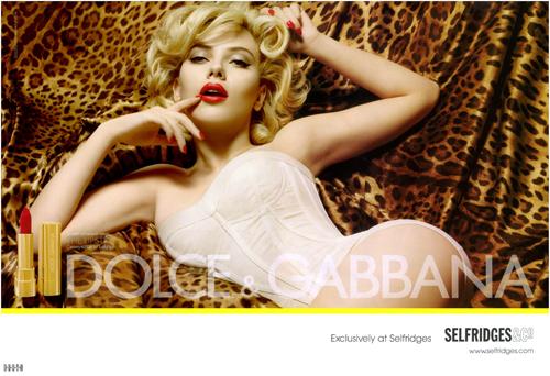 Scarlett Johansson – Dolce & Gabbana Ads