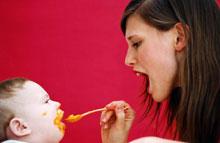 Uz zoba! Pāreja uz cieto ēdienu (No dzimšanas līdz 6 mēnešiem)