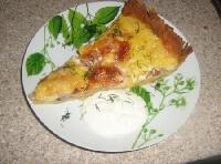 Cepts sāļais pīrāgs ar dārzeņiem