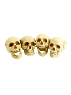 4 pcs, Skull Heads, 16 cm