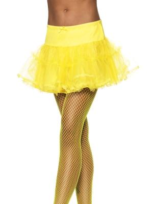 Тюлевый подъюбник с подкладкой, желтый