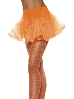 Тюлевый подъюбник с подкладкой, оранжевый