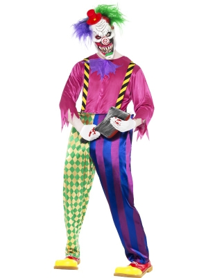 Kolorful Killer Klown Costume with mask