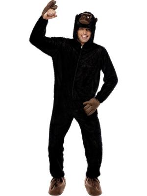 Gorillas kostīms ar kapuci (sieviešu / vīriešu)