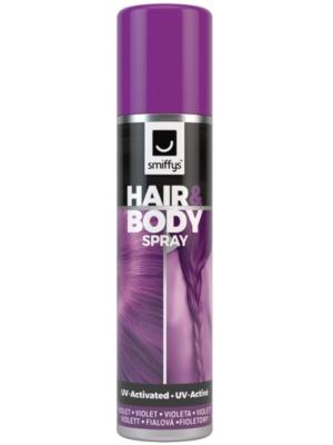 UV matu un ķermeņa sprejs, violets, 75 ml
