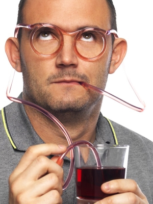 Очки, cоломка для питья