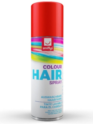 Hair Colour Spray, Red, 125 ml