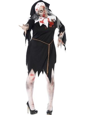 Zombija asiņainas mūķenes kostīms