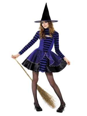 Teen Stripe Dark Fairy Costume