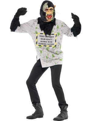 Mutant Monkey Costume with Mask and Gloves