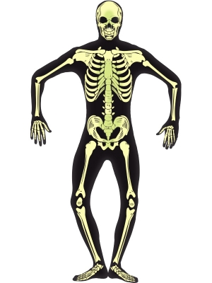 Skeleton Glow in the Dark Second Skin Costume