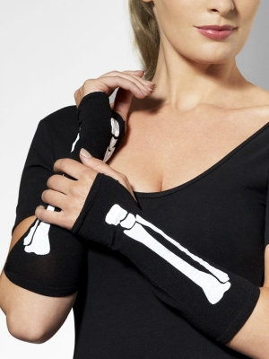 Перчатки скелета, без пальцев