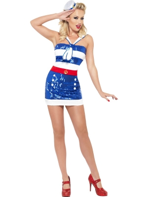Fever Sequin Sailor Costume