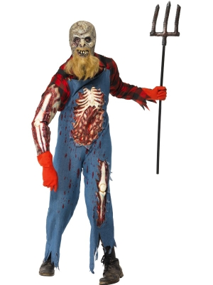 Hillbilly Zombie Costume and Mask