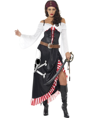 Pirātes kostīms, melns