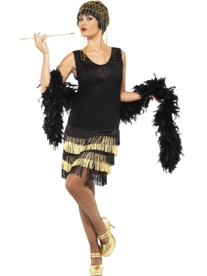 1920`s Fringed Flapper Costume