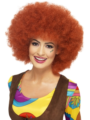 Афро парик темно-рыжий