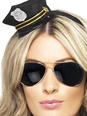 Полицейская мини шляпка