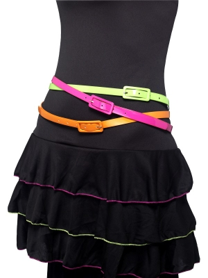 3 pcs, Neon Belts