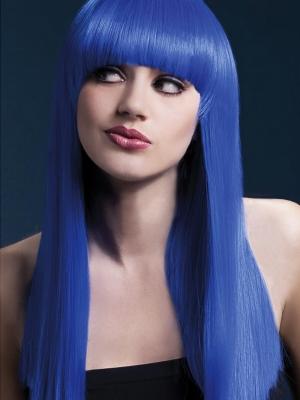 Parūka Aleksija, neona zila