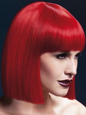 Lola Wig, Red, 30 cm