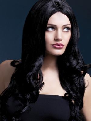 Parūka Rianna, melna, 66 cm