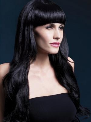 Parūka Jasmīna, melna, 71 cm