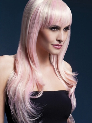 Parūka Sīna, blonda ar rozā