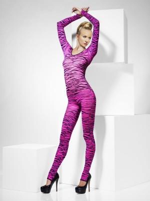 Боди с принтом зебры, розовый