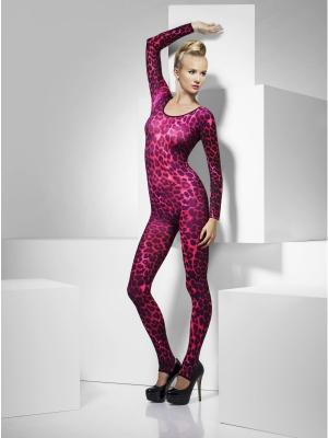 Боди с леопардовым принтом, розовый