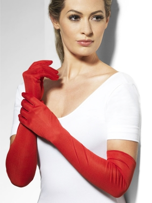 Gloves, red, 52 cm