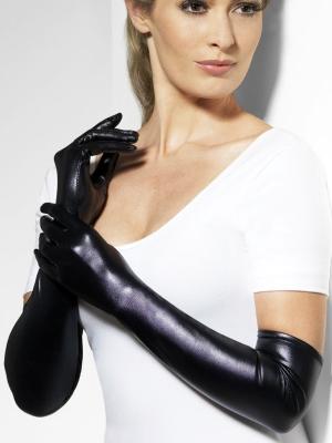 Перчатки латексные, черные