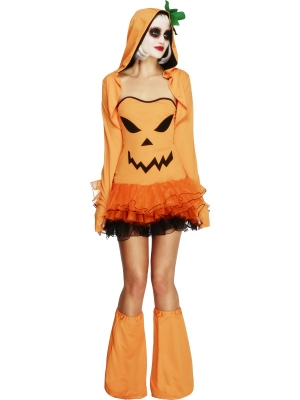 Fever Pumpkin Tutu Dress with Detachable Straps