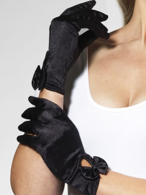 Short gloves, black