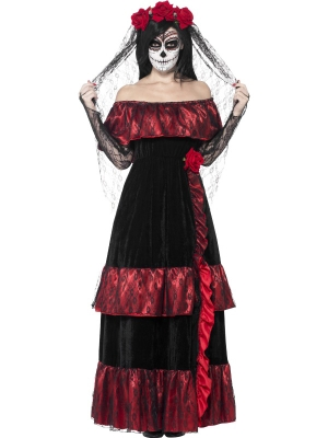 Day of the Dead Bride Costume, Deluxe