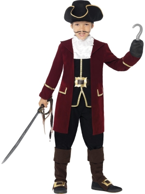 Deluxe Pirate Captain Costume, with Jacket