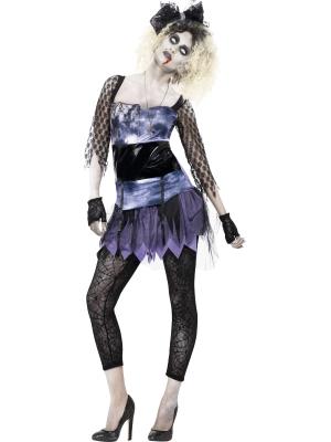Zombie 80`s Wild Child Costume