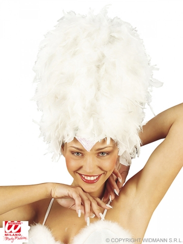 Feather headdress, white