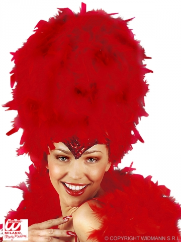 Feather headdress, red