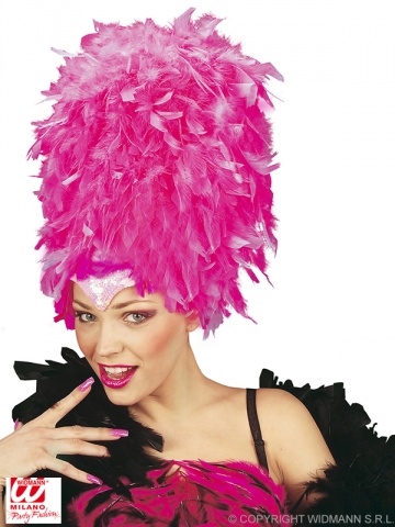 Feather headdress, pink