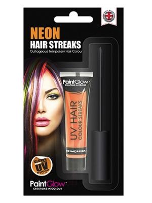 UV Hair Colour Streaks, Orange, 15 ml