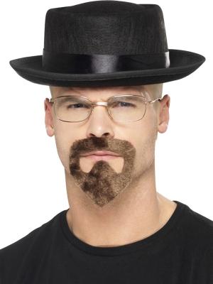 Heisenberga cepure, kazbārdiņa un brilles