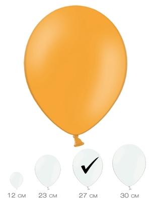 10 gab, Mandarīnu oranžs, pasteļtonis, 27 cm