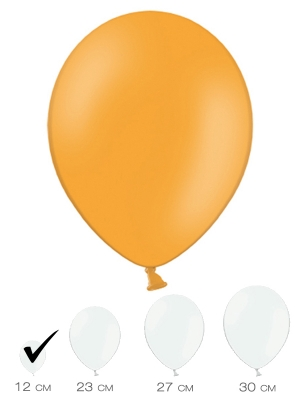 100 gab, Mandarīnu oranžs, pasteļtonis, 12 cm